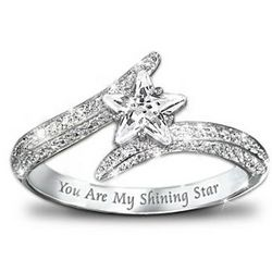 My Daughter, You Are My Shining Star Sterling Silver Ring
