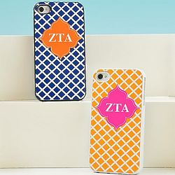 Greek Lattice Personalized iPhone Case