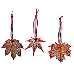 Real Maple Leaf Ornaments