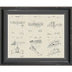Aviation Patents Framed Art Print 20x24