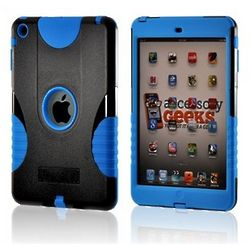 Blue and Black Protective Hard Case for iPad Mini