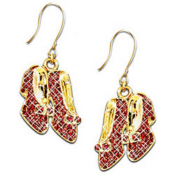 Wizard Of Oz Over the Rainbow Dorothy's Ruby Slippers Earrings