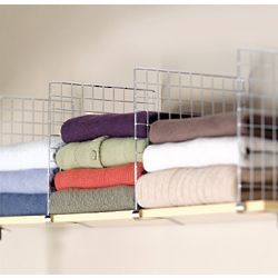 Chrome-Plated Steel Closet Shelf Dividers