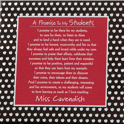 Teacher's Promise Personalized Canvas