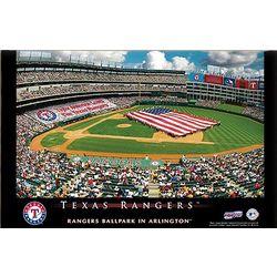 Texas Rangers 16x24 Personalized Stadium Canvas