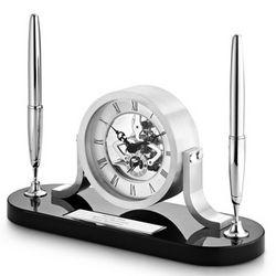 Skeleton Clock Double Pen Stand