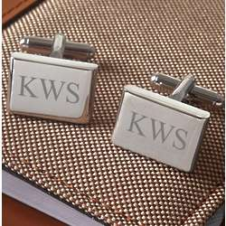 Engravable Rounded Edges Rectangular Cufflinks