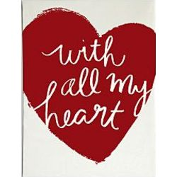 With All My Heart Wall Art