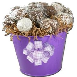 Hand Decorated Mini Cake Pops Gift Basket