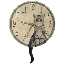 Purrfect Timing Wall Clock