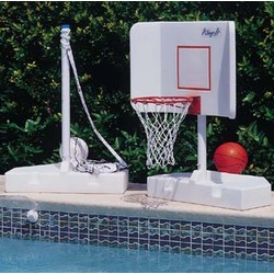 Spike and Splash Water Volleyball-Basketball System Game Combo