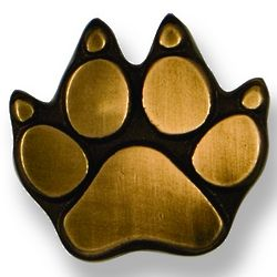 Oiled Bronze Dog Paw Doorbell Button