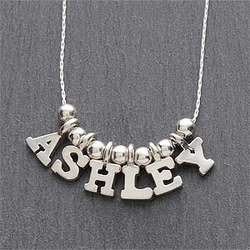 Silver Name Necklace - 5-8 Letters