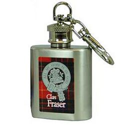 Personalized Scottish Family Crest Key Chain Flask