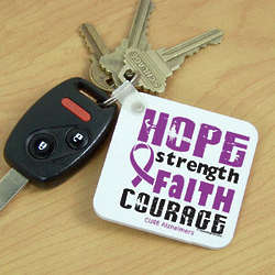 Cure Alzheimer's Key Chain