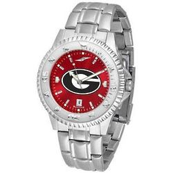 Georgia Bulldogs Competitor AnoChrome Steel Band Watch