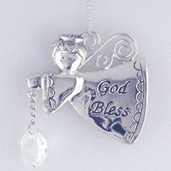 Engraved Lil Boy God Bless Christmas Ornament