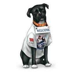NASCAR Dog Outdoor Welcome Sculpture