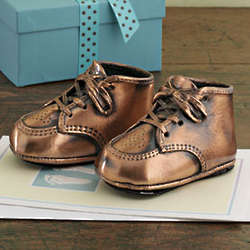 Bronze Baby Shoe Pair