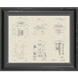 Farming Equipment Framed Patent Art 20x24