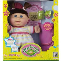 Cabbage Patch Kids Baby Caucasian Girl with Brunette Hair