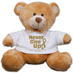 Never Give Up Awareness Teddy Bear
