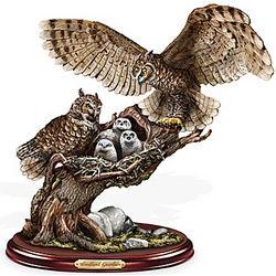 Woodland Guardian Owl Sculpture