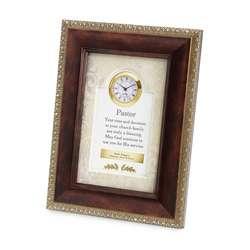 Pastor Blessing Frame Clock