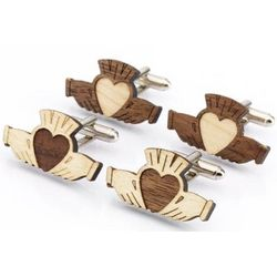 Claddagh Cufflinks Double Set