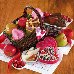 Valentine's Day Deluxe Sweets Gift Basket