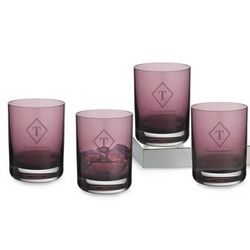 Amethyst Double Old Fashioned Glass Set