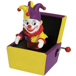 Jack in the Box Hand-Cranked Musical Figurine