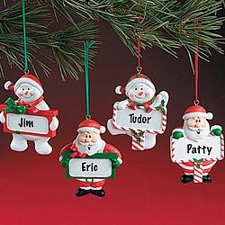 Santa & Snowman Ornaments