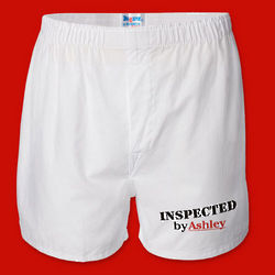 Valentine Men's White Personalized Boxer Shorts