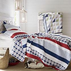 Nautical Stripe Full/Queen Oversized Reversible Quilt