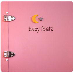 Baby Feats Scrapbook Journal in Pink