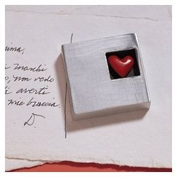 Square Heart Paperweight