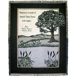 Personalized Father Happiness Throw
