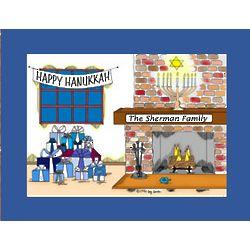 Personalized Hanukkah Cartoon