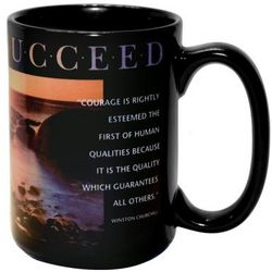 Believe & Succeed Sunset Ceramic Mug