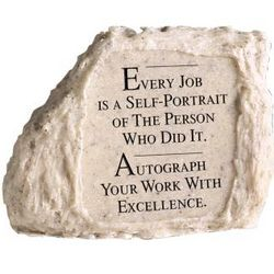 Every Job is a Self-Portrait Stone Paperweight