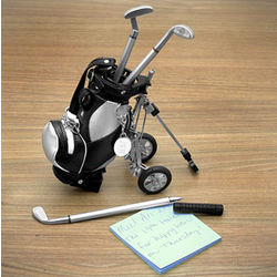 Golf Pen with Golf Bag Holder Set