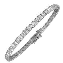 Princess-Cut Swarovski Crystal & Sterling Silver Tennis Bracelet