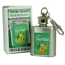 Personalized Irish Coat of Arms Key Chain Flask