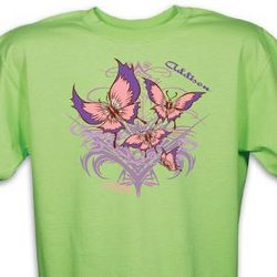 Personalized Tribal Butterfly T-Shirt