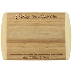 Personalized Mother's Day Bamboo Cutting Board