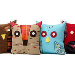 Recycled Clothing Animal Pillows