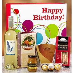 Happy Birthday Vineyard Select White Wine Box