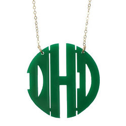 Small Acrylic Block Monogram Necklace