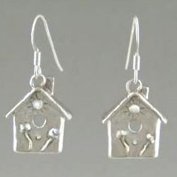 Birdhouse Earrings